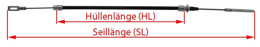 1540mm Anh/ängerseil 37086.15 3708615 Anh/ängerbremsseil 1330 1540 GL HL Knott 2 x Original Nirosta Bremsseil inklusive 2X Muttern H/üllenl/änge 1330mm Gesamtl/änge