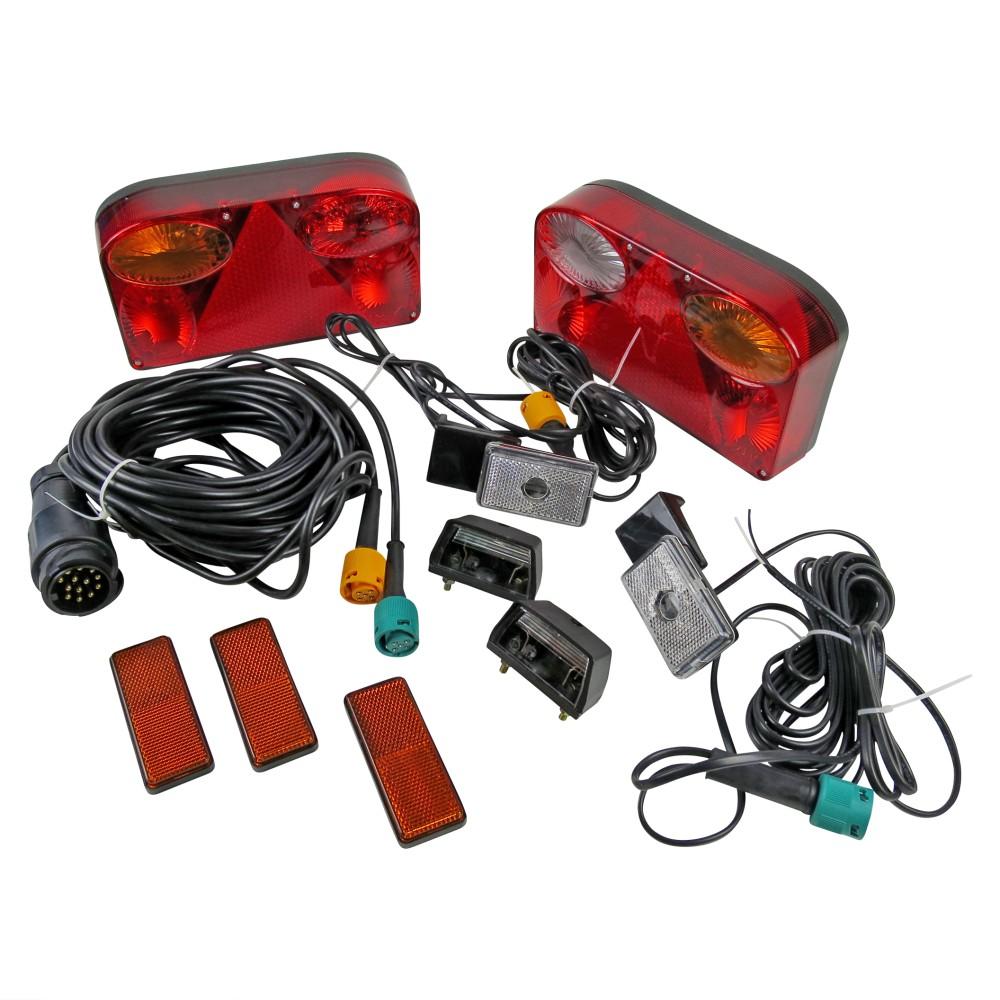 Anhänger Beleuchtungs Komplettsatz mit 7m Kabelsatz 13 pol.-990010495