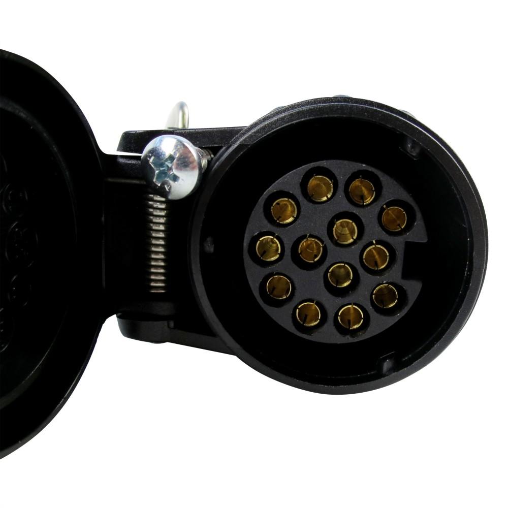 kupplungsdose 13 polig kunststoff anh nger stecker steckdose kupplung 13pol 990001974. Black Bedroom Furniture Sets. Home Design Ideas