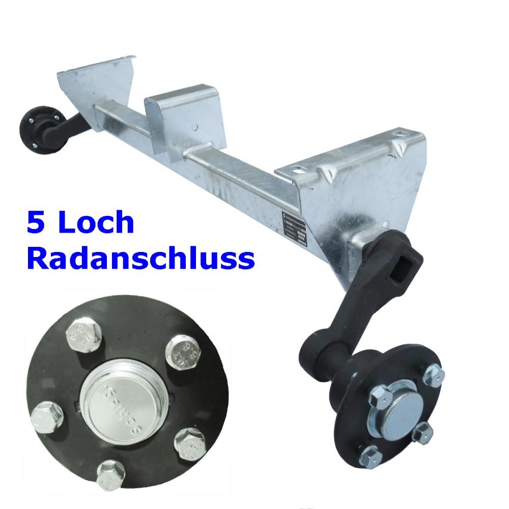 Schlegl 1000kg Achse MB10 - 1200mm - 5x112 - hoher Auflagebock ...