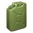 Benzinkanister 20L Metall grün UN/TÜV geprüft Stahlblech Kanister Armeekanister